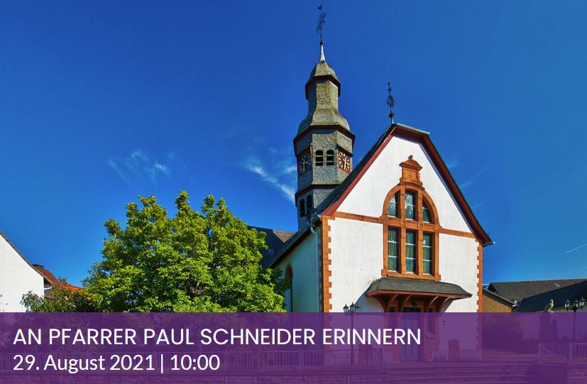 Gottesdienst zur Erinnerung an Pfarrer Paul Schneider